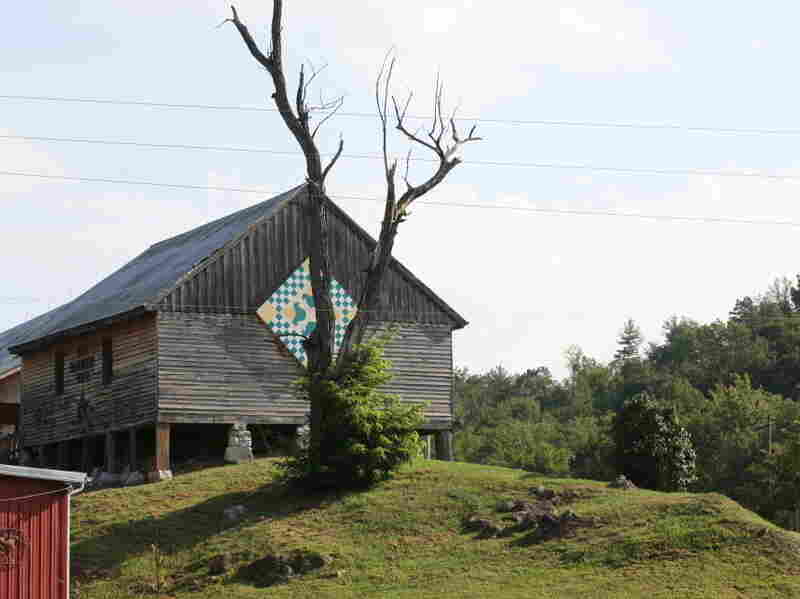 Jay and Ann Birdwell own this 1860 granary on Still Hollow Farm in East Tennessee.