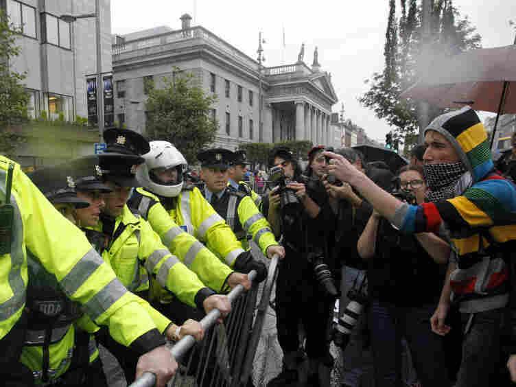 protests blair Dublin