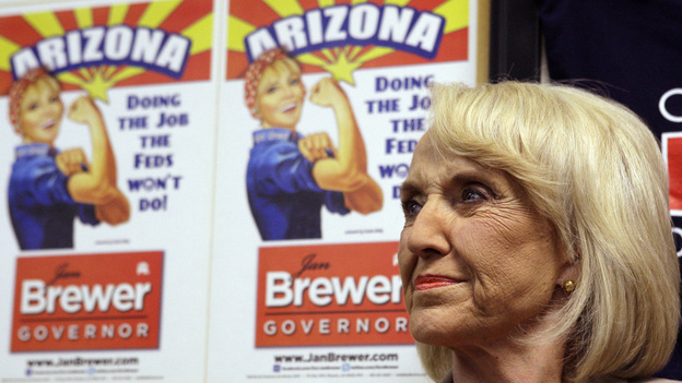 Arizona Gov. Jan Brewer's supporters say that with the immigration law, she's been doing the federal government's work for it.