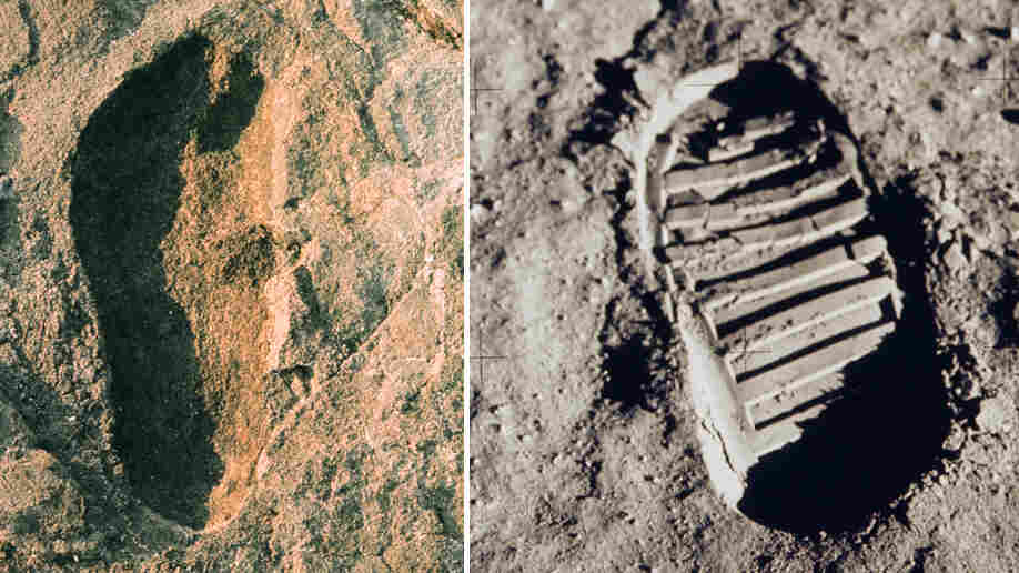 Composite image of historic footprints.