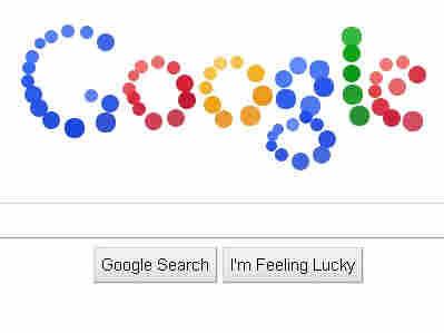 Google's bouncing ball logo.