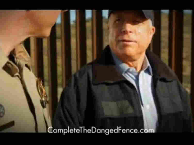 "McCain's ""Complete the Danged Fence"" ad  boosted his primary campaign."