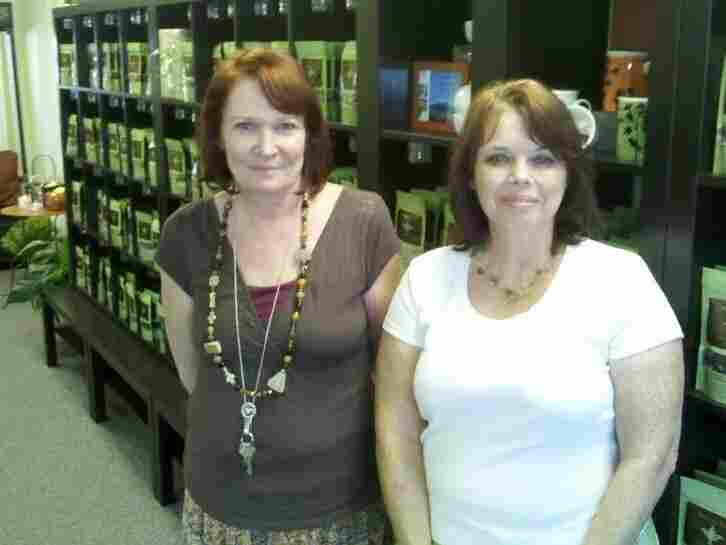 Business partners Holly Hunt, left, and Valarie Shaw opened a tea shop in Phoenix in August.