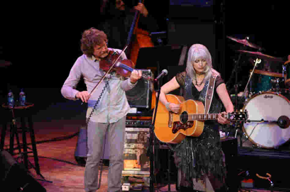 Sam Bush and Emmylou HarrisPhoto by Ash Newell
