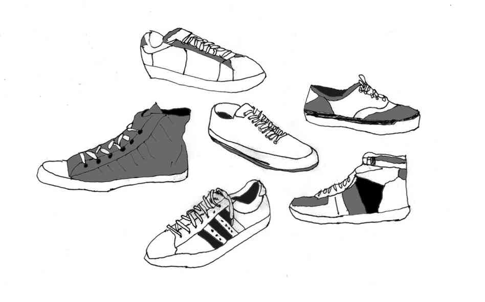 Day 211: This is an imaginary collection of vintage sneakers. Most people from my generation (I grew up in the 70s and 80s) appreciate sneakers.