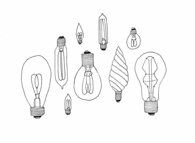 Day 74: Every week or two I draw a collection instead of photographing one. I gave myself permission to do this when I started the project. I draw for a living so this is partly my way of inserting my imaginary collections into the mix. I love vintage light bulbs; turns out after I drew this I acquired some real ones, which you can see on Day 158.