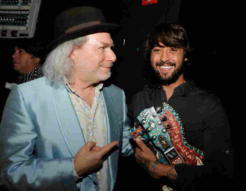 Buddy Miller and Song of the Year winner Ryan BinghamPhoto by Erika Goldring