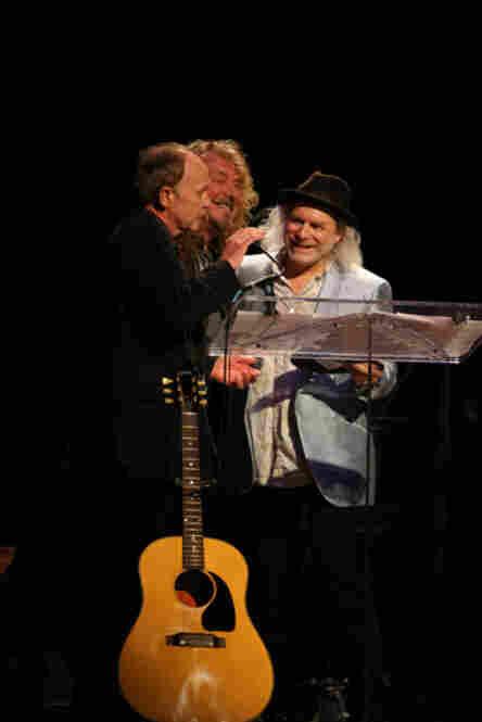 Drew Berryman, Robert Plant and Buddy MillerPhoto by Ash Newell