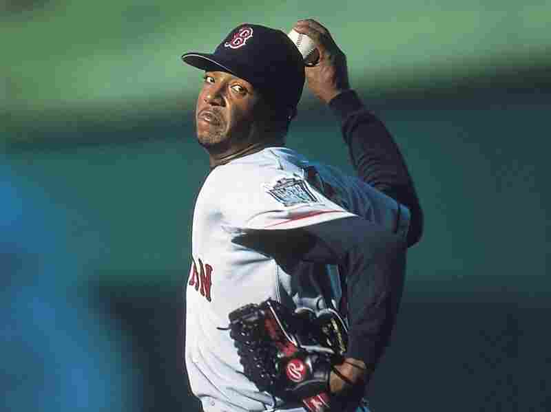 Pedro Martinez of the Boston Red Sox in a 1999 game.