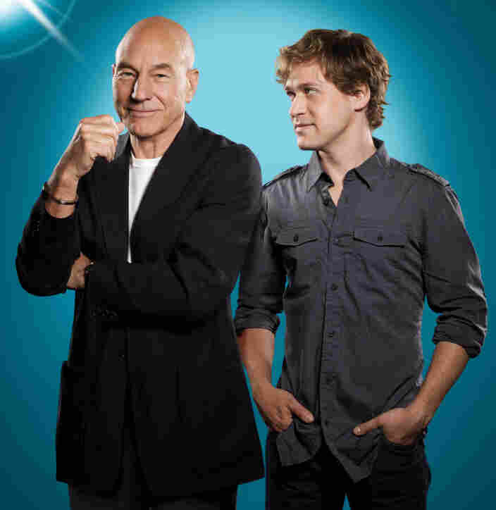 Patrick Stewart and T.R. Knight