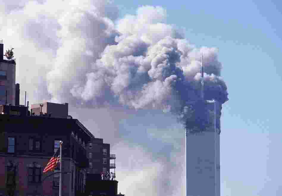 Smoke bellows from the North Tower of the World Trade Center on Sept. 11, 2001.