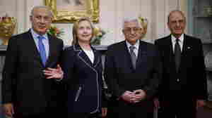 Benjamin Netanyahu, Hillary Clinton, George Mitchell, Mahmoud Abbas