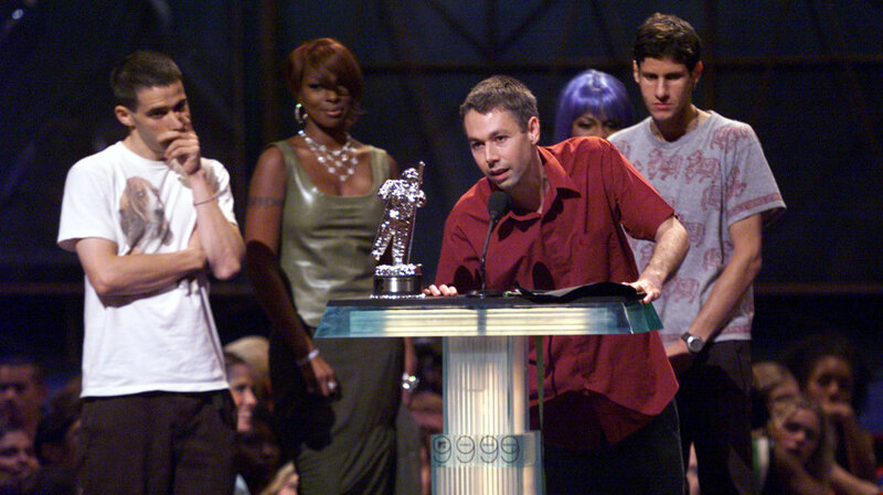 The Beastie Boys Accepting Award For Best Hip Hop Video Intergalactic At 1999 Music Awards Adam Ad Rock Horovitz Left Used