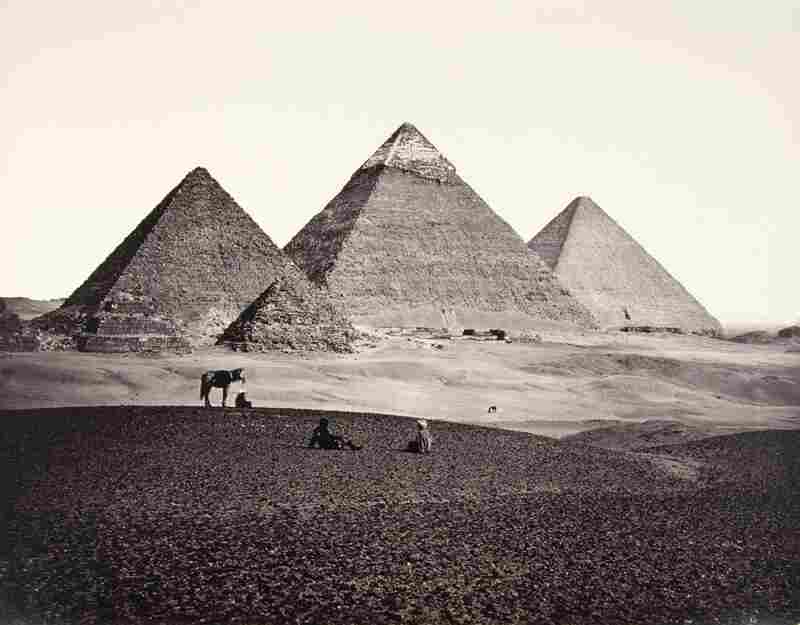 The Pyramids of El-Geezeh, From the South-West, 1859