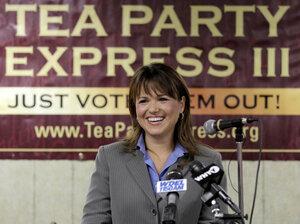 Christine O'Donnell. Tea Party favorite in Delaware's GOP Senate primary.