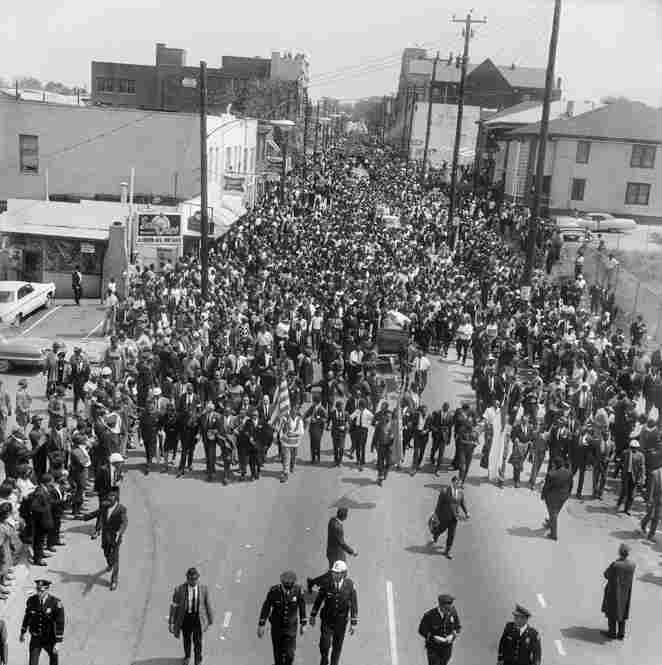 Funeral procession for Dr. Martin Luther King Jr., Atlanta, Ga., April 1968