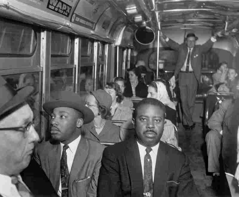 Withers had unprecedented access to — and the trust of — Dr. Martin Luther King Jr. Dr. Martin Luther King Jr. and Rev. Ralph Abernathy ride on one of the first desegregated buses, Montgomery, AL, December 21, 1956