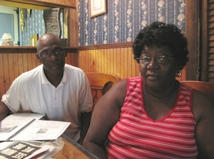 Leon Robinson and Diane Robinson Samuels, siblings of Johhny Robinson.