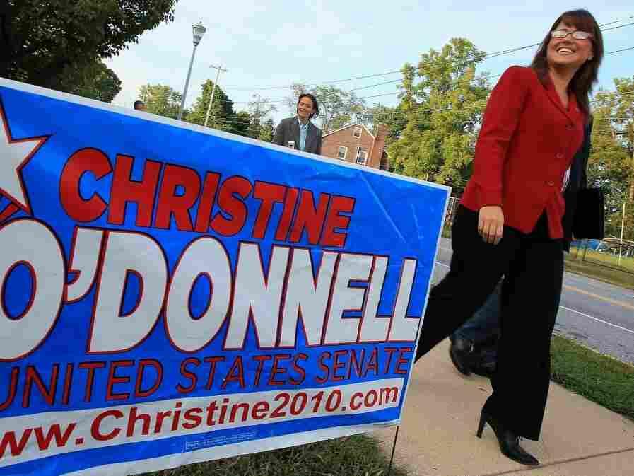 Christine O'Donnell walks