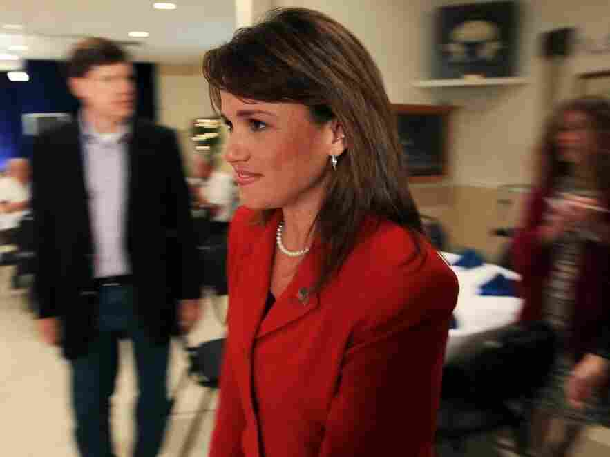 Christine O'Donnell at party