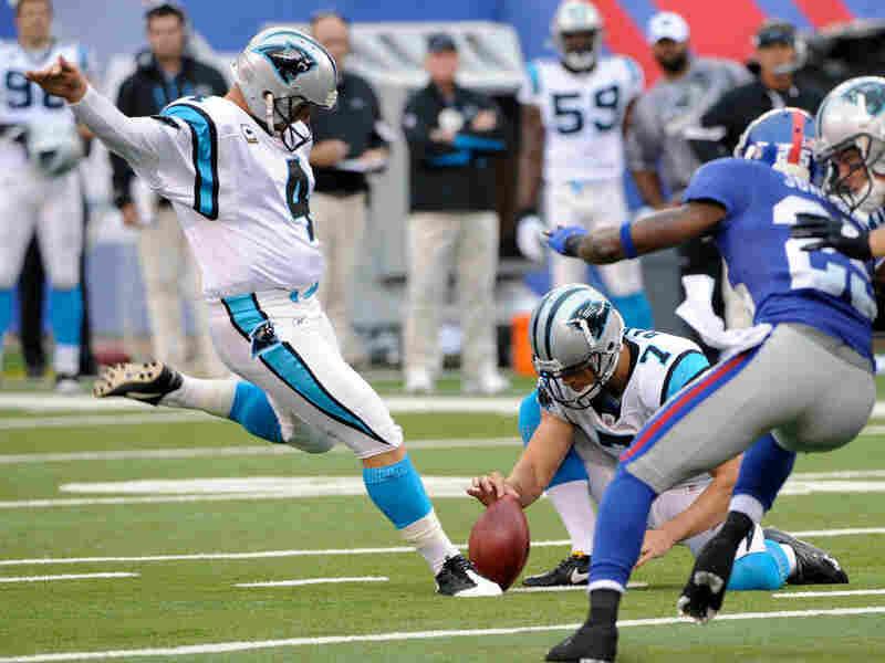 Carolina Panthers' John Kasay  kicks a field goal