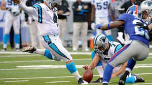 Carolina Panthers' John Kasay  kicks a field goal