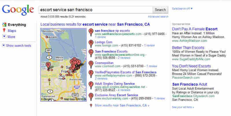 A Google Ads result (San Francisco)