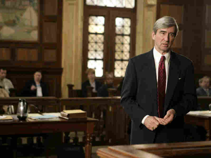 Actor Sam Waterston in NBC's syndicated TV series Law & Order