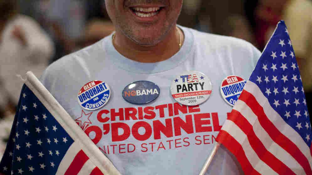 A Del. Tea Party activist celebrates Christine O'Donnell's win.
