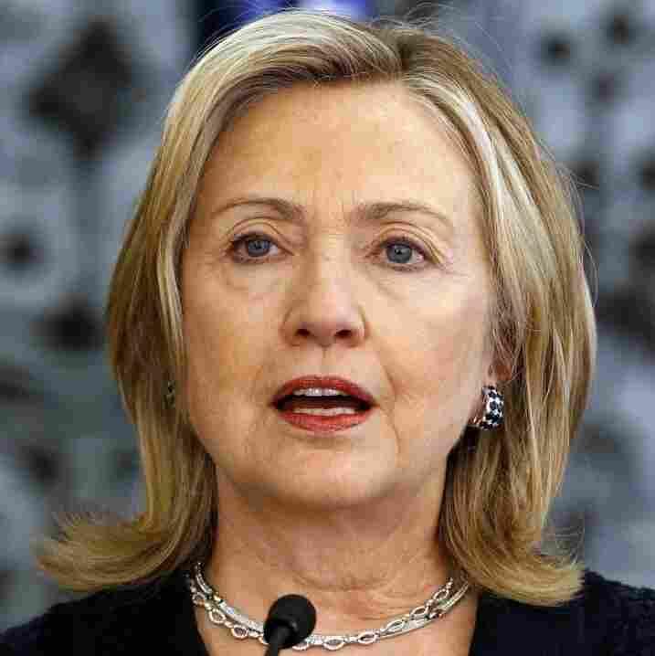 US Secretary of State Hillary Clinton in Jerusalem.