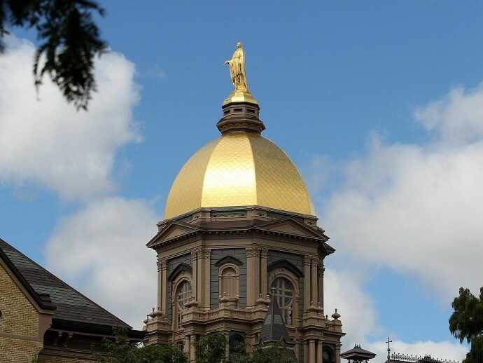 "Notre Dame University's ""Golden Dome"""