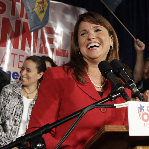 Christine O'Donnell, new GOP nominee for Senate in Delaware. Sept. 14, 2010.