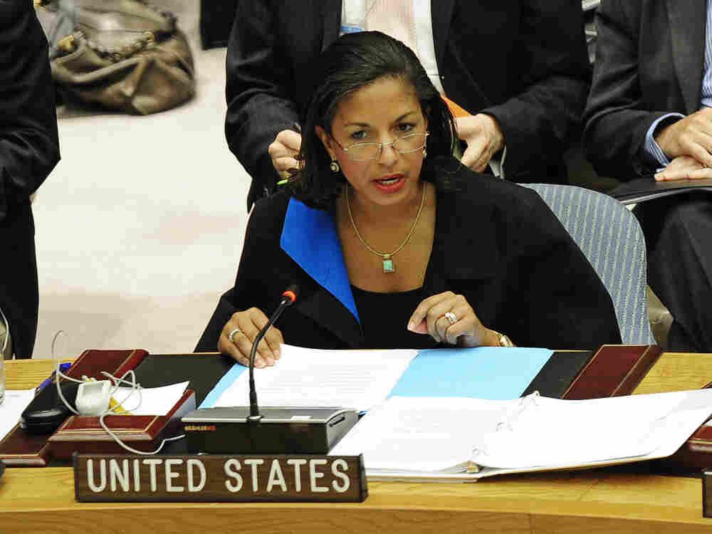 US Ambassador to the UN Susan Rice talks