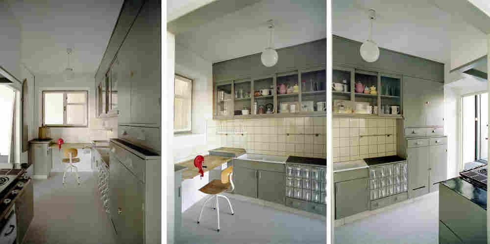 Three views of the Frankfurt Kitchen