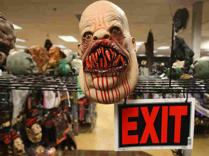 A Halloween mask in a store. David McNew/Getty Images