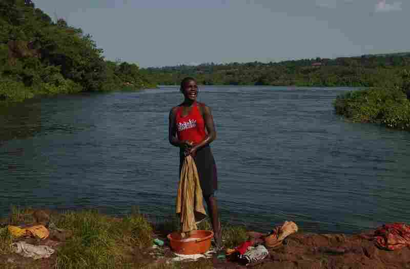 The people who live along the Nile know its secrets --- where to swim, where to bathe, where to wash clothes. The women in Uganda say they can get their clothes cleaner and brighter on the rocks in the Nile than by using any other water source.