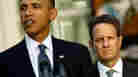 Obama is joined by Tim Geithner as he urges Congress to pass middle class tax cuts.