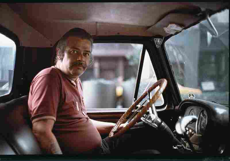 John Chamberlain in his truck, outside of Max's Kansas City, circa 1972