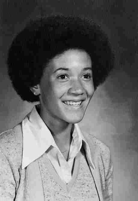"""Norris' eighth-grade school photo. """"This was my mother's idea of a 'sporty' hairdo,"""" she explains."""