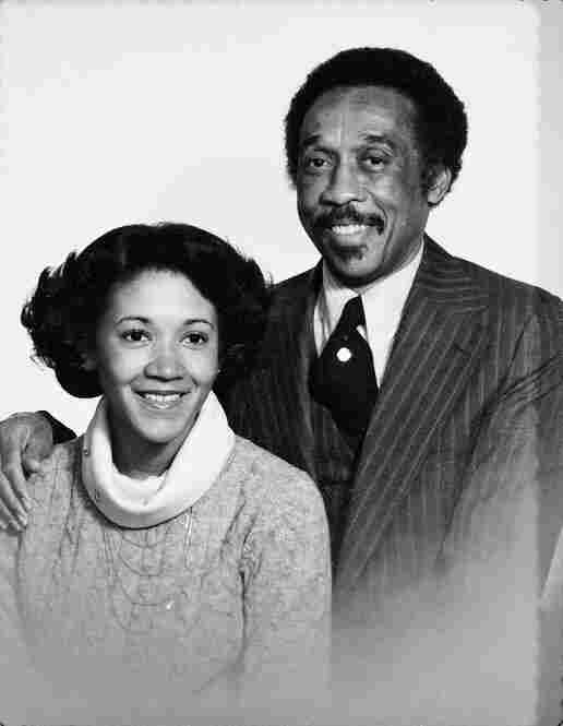 Norris and her father.