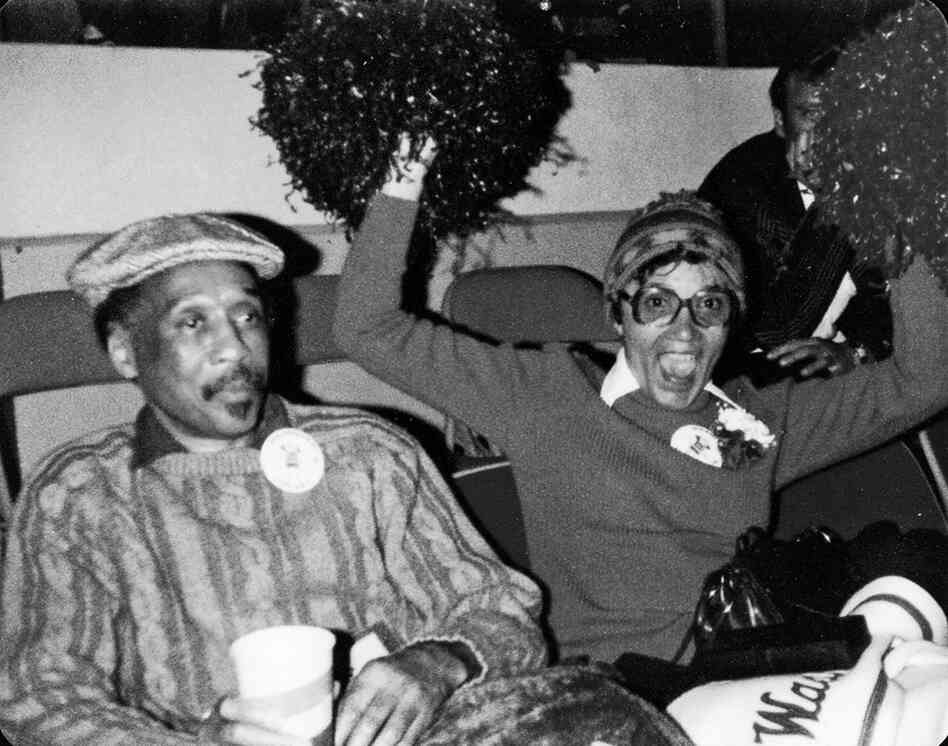 "Norris' mother and father attending one of her high-school games in 1979. She says they were ""probably toughing it out as a 'couple' even though they lived apart."""