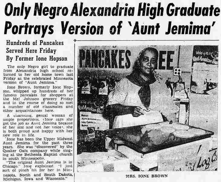 Ione Brown, grandmother of NPR's Michele Norris, is featured in a Minnesota newspaper in 1950.