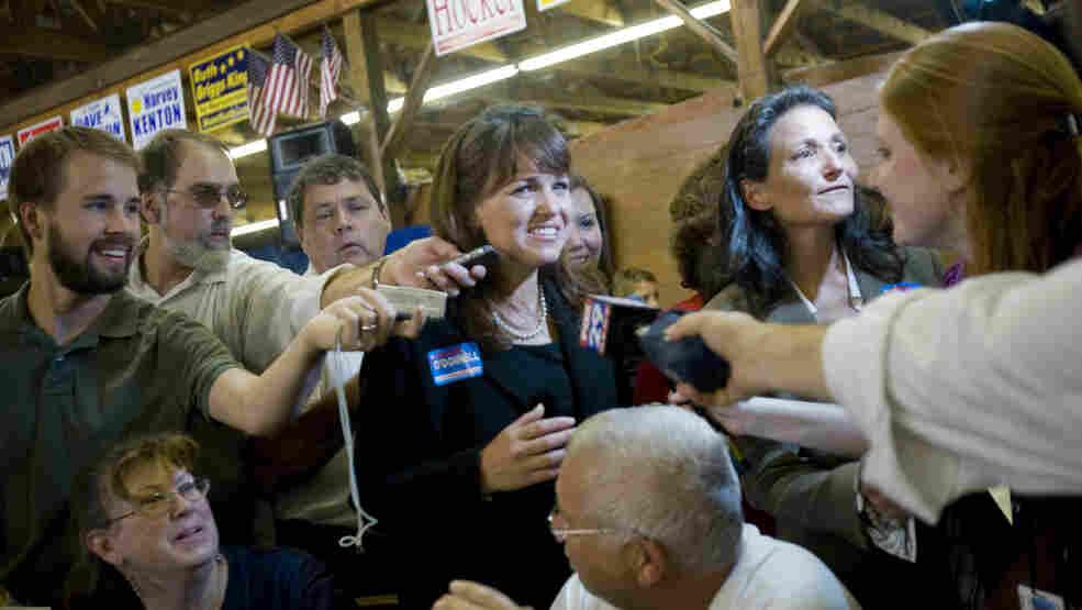 Delaware Republican Senate candidate Christine O'Donnell, in Lincoln, Del. on Sunday.