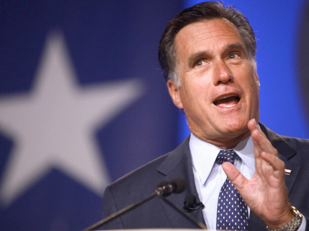 Mitt Romney at teh Value Voters Summit on Friday.