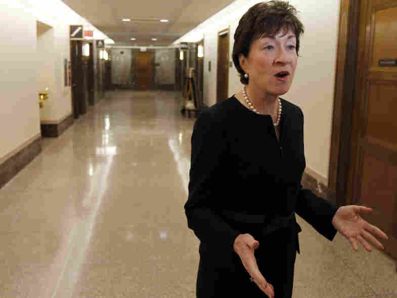 Republican Sen. Susan Collins of Maine on Capitol Hill