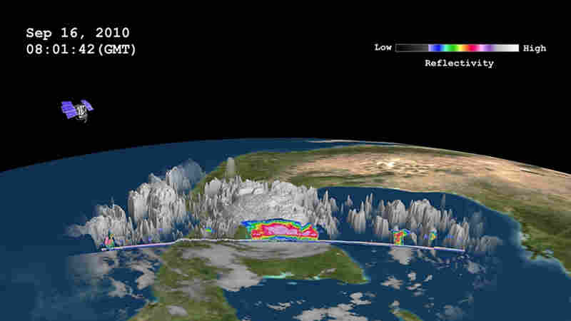A section of Hurricane Karl from NASA's CloudSat satellite