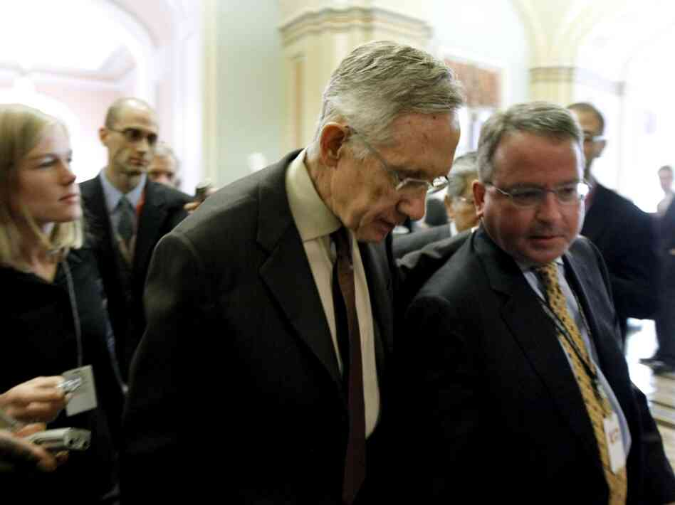 Sen. Harry Reid walks