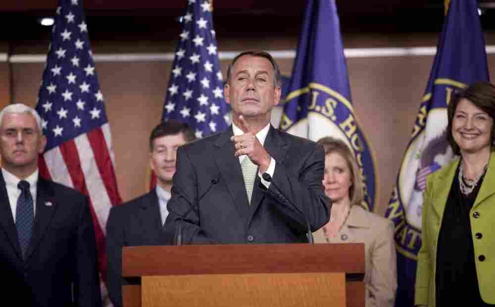 Rep. John Boehner and fellow Republicans