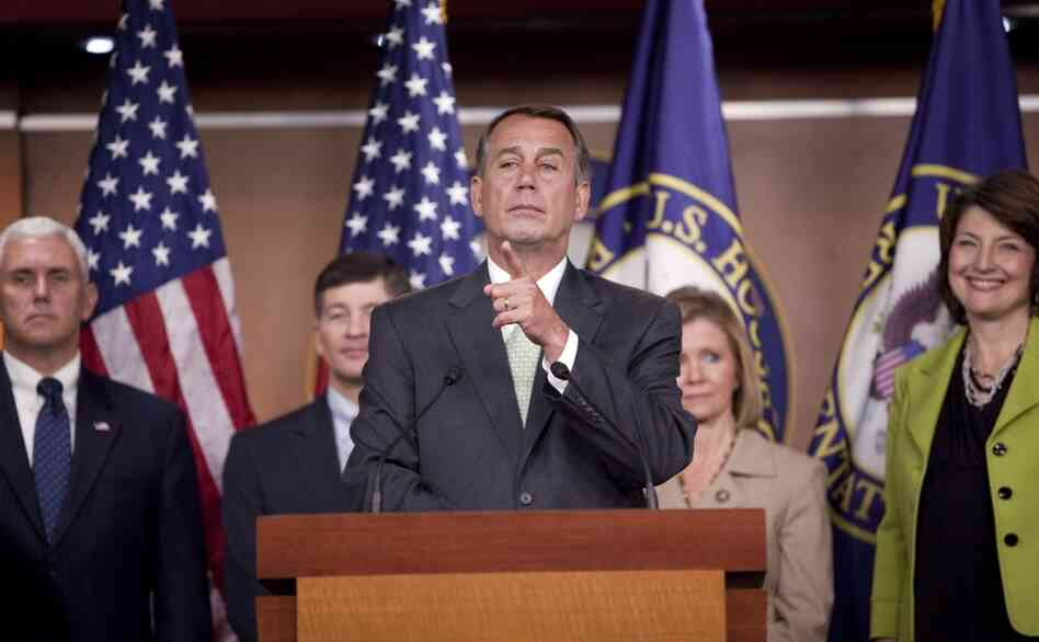 Rep. John Boehner and fellow Republicans