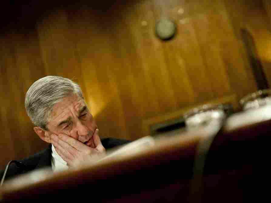 FBI Director Robert Mueller speaks durin